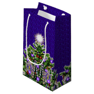 Lueur d'étoile d'arbre de Noël Petit Sac Cadeau