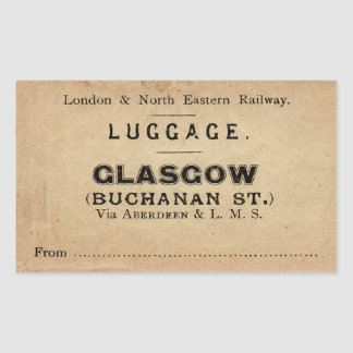 Luggage Glasgow Sticker Rectangulaire