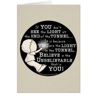Lumière dans le tunnel carte de vœux