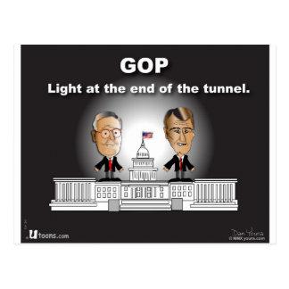 Lumière de GOP à l'extrémité du tunnel Cartes Postales