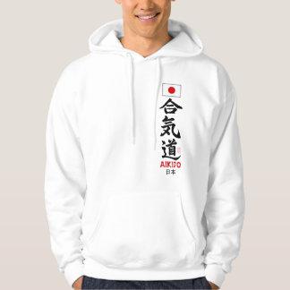Lumière japonaise de drapeau de kanji d'Aikido Veste À Capuche