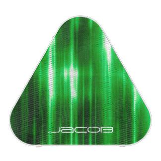 lumières brillantes abstraites vertes haut-parleur bluetooth