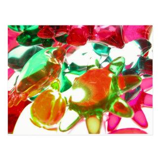 Lumières colorées carte postale