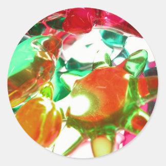 Lumières colorées sticker rond