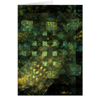 Lumières dans la carte de voeux d'art abstrait de