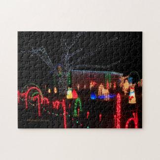 Lumières de Noël au puzzle de nuit ! !