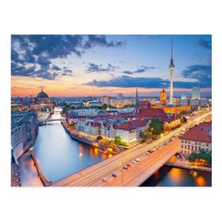 Lumières de nuit de Berlin Allemagne Carte Postale