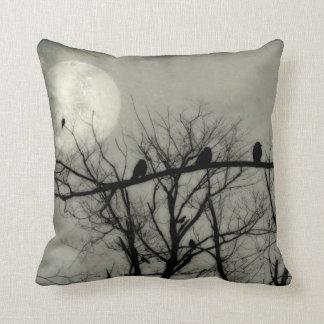 Lumières de pleine lune le ciel pour des coussins carrés