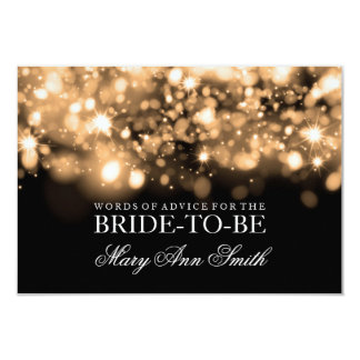 Lumières de scintillement d'or nuptiale de douche carton d'invitation 8,89 cm x 12,70 cm