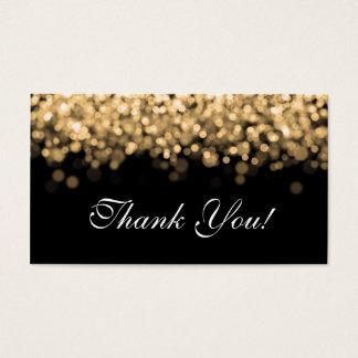 Lumières d'or d'insertion de Merci Cartes De Visite