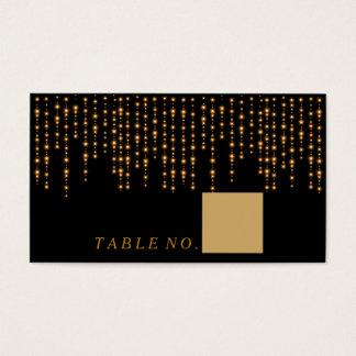Lumières d'or sur les cartes noires d'endroit