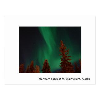 Lumières du nord à pi Wainwright, lig du nord… Carte Postale
