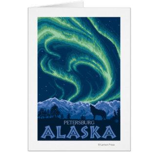 Lumières du nord - Pétersbourg, Alaska Carte