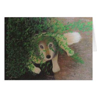 Luna - chien enroué de loup carte