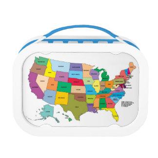 Lunch Box CARTE de panier-repas des Etats-Unis !