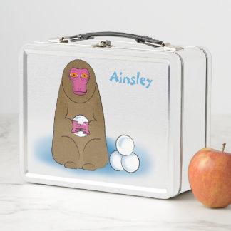 Lunch Box Gamelle de combattant de Snowball de singe de