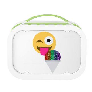 Lunch Box gamelle de panier-repas d'emoji de clin d'oeil de