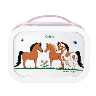 Lunch Box Gamelle de trois amis de cheval