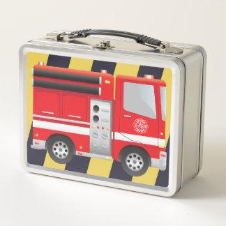 Lunch Box Gamelle en métal de pompe à incendie de