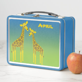 Lunch Box Gamelle heureuse de troupeau de girafe
