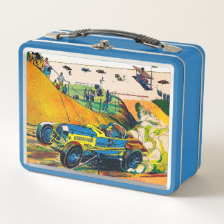 Lunch Box Gamelle vintage en métal de voiture de course
