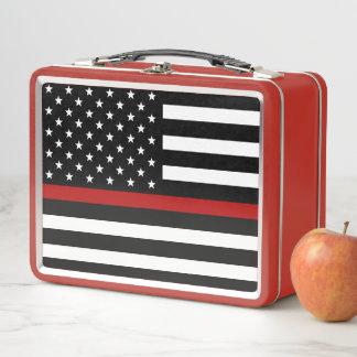 Lunch Box Ligne rouge mince gamelle de sapeur-pompier en