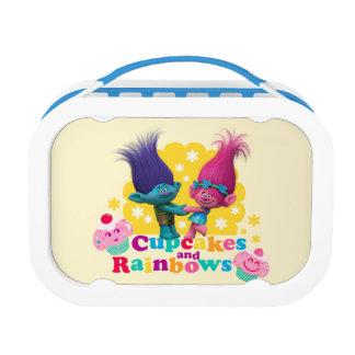 Lunch Box Pavot et branche des trolls | - petits gâteaux et