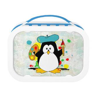Lunch Box Pingouin artistique