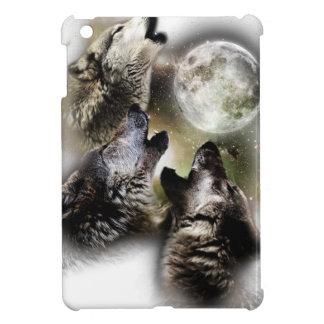 Lune de loups d'hurlement coque pour iPad mini