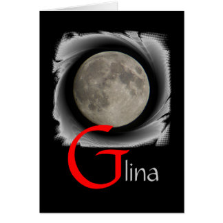 Lune, Lune, Luna, Glina, Moon carte de salutation
