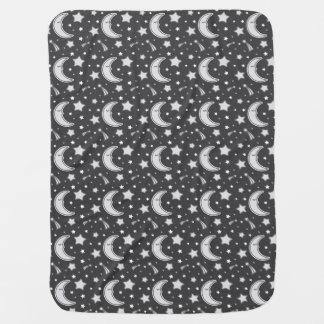 Lune somnolente - couverture gris-foncé de bébé couverture pour bébé