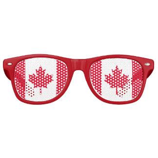 Lunettes De Fête Retro Feuille d'érable canadienne de drapeau Canada
