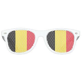 Lunettes De Fête Retro La partie de drapeau de la Belgique ombrage des