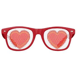 Lunettes De Fête Retro Verres de partie - coeurs rouges