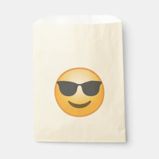 Lunettes de soleil de sourire Emoji Sachets En Papier