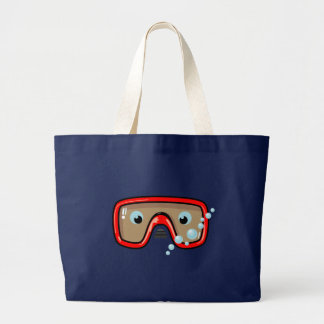 Lunettes rouges grand tote bag