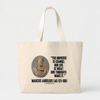L'univers de Marcus Aurelius est changement que Sac En Toile Jumbo