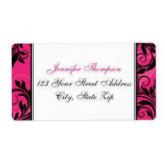 Lustre blanc noir rose, étiquette de adresse de étiquettes d'expédition