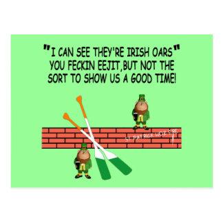 Lutins irlandais drôles cartes postales