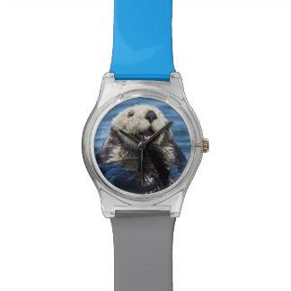 Lutris) bruidegoms van de Otter van het Zee van Polshorloge