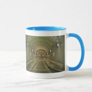 Lutteur tasse bleu Hambourg de vieux Elbtunnel