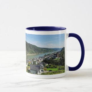 Lutteur tasse bleu Oberwesel dans la Rhin