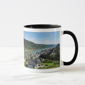 Lutteur tasse noir Oberwesel dans la Rhin