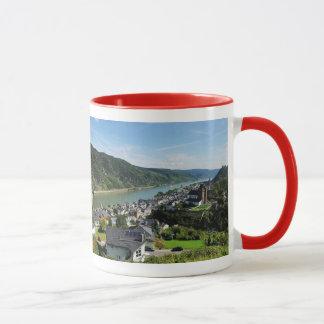Lutteur tasse rouge Oberwesel dans la Rhin