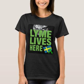 Lyme vit ici chemise de conscience de la Suède T-shirt