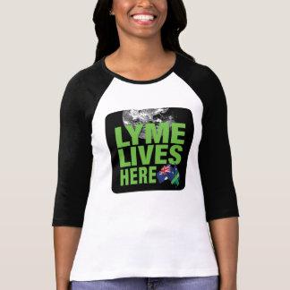 Lyme vit ici chemise de conscience de l'Australie T-shirt