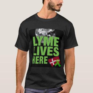 Lyme vit ici dans la chemise du Danemark T-shirt
