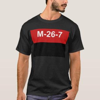M-26-7 drapeau - Bandera del Movimiento 26 De T-shirt