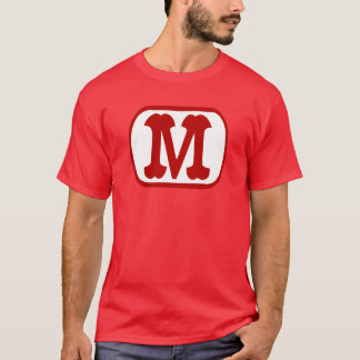 M dans l'icône ovale (Mario) T-shirt