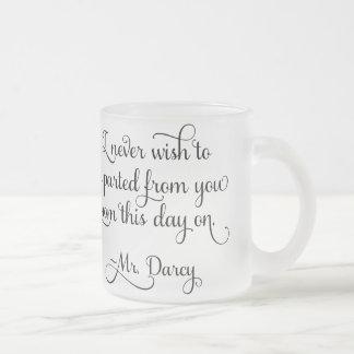 M. Darcy Quote Jane Austen de fierté et de Tasse Givré